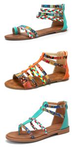 Bohemiska sandaler kvinnor strand tåseparator