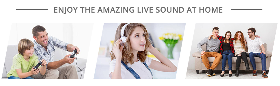ENJOY THE AMAZING LIVE SOUND AT HOME