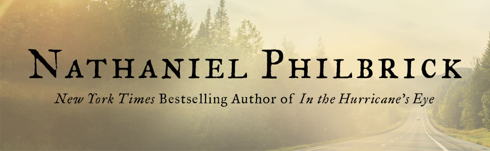 Large text: Nathaniel Philbrick, author of In the Hurricane's Eye