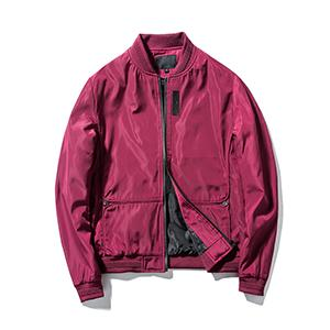 Guanzizai Menamp;#39;s Lightweight bomber jacket Softshell outwear Zipper Windbreaker Flight Coat Red