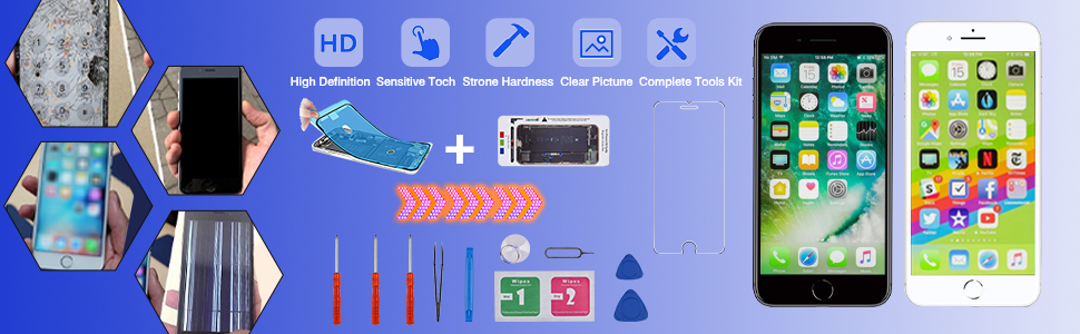iphone 8 screen replacement kit