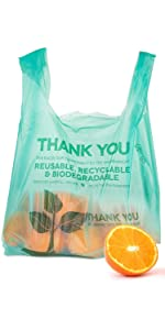 Grocery Bags (100 Count) - Plastic Grocery Bags - Reusable Supermarket Thank You Shopping Bags
