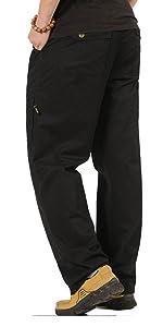 men elastic waist pants