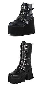 wedge boots platform boots for women black platform boots