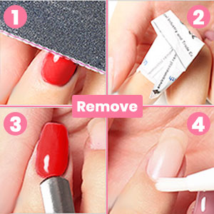 remove the gel