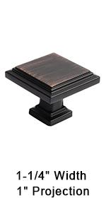 oiled rubbed bronze square cabinet knobs retro knobs for dresser and drawer