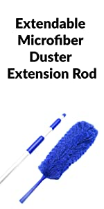 Extendable Microfiber Duster Extension Rod