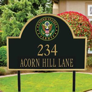 Military Address Plaque
