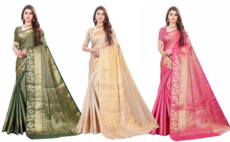 neeah banarasi silk woven saree