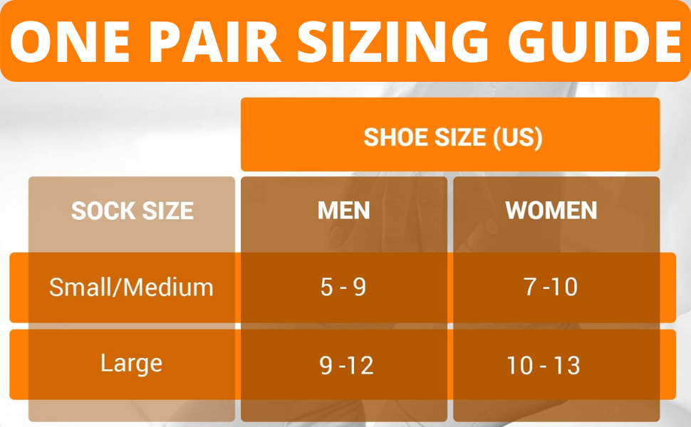 Cold therapy socks sizing guide