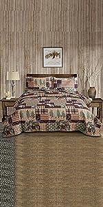 Lodge cabin rustic quilt set