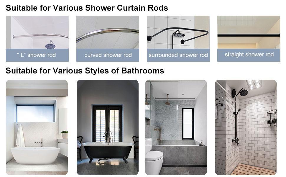 transparent shower curtain liner