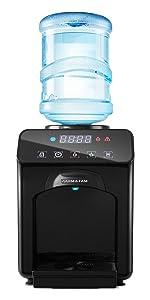 water cooler dispenser black