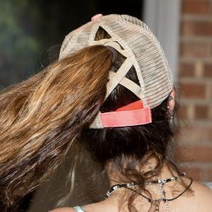 Criss Cross Back of Hat