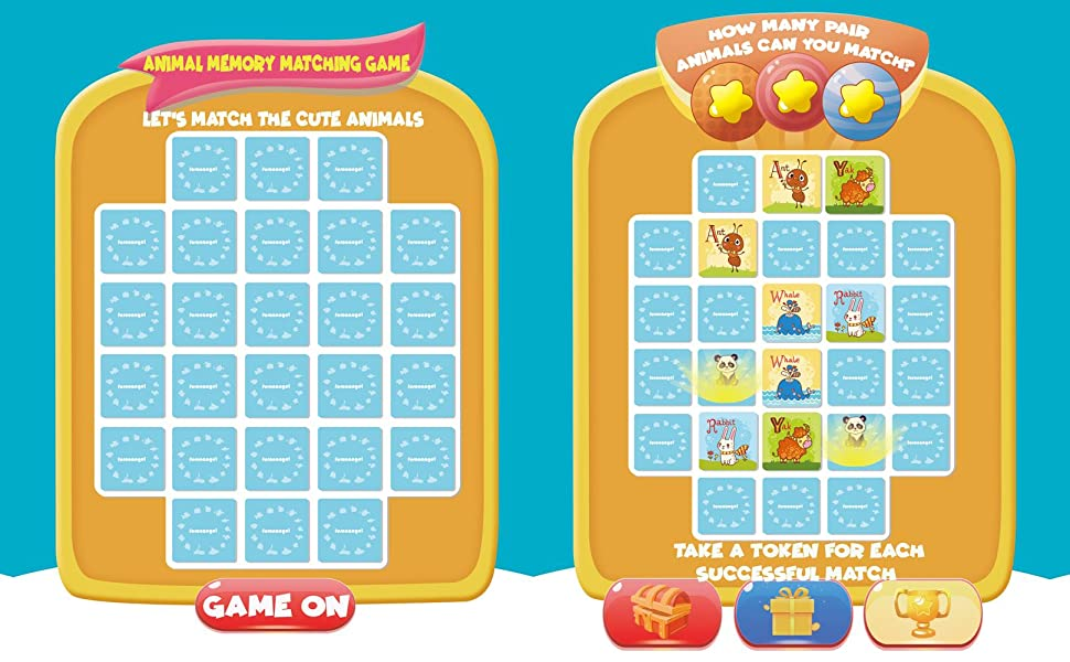 Animals Letters Matching Game