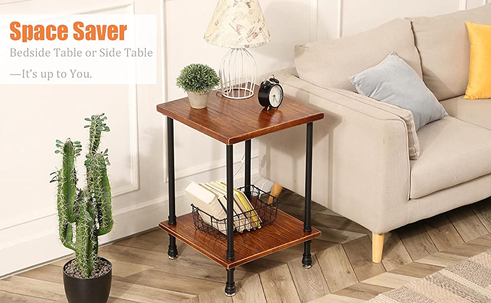 Use it as an end table, nightstand, lamp table or a decorative table beside your sofa or bed.