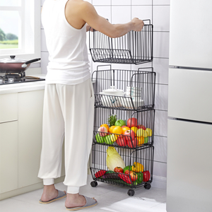 stackable wire baskets for kitchen
