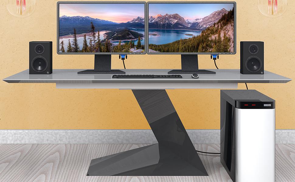 Bluerigger dvi cable for monitor dvi to dvi cable dual monitor pc cable dvi dual dvi to dvi 25 ft