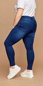 AMY Zizzi slim jeans gut sitzende plus size in größe 48