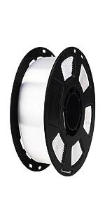 silk white pla filament