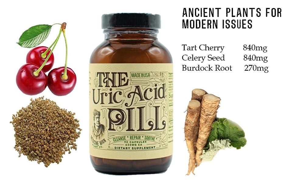 Medicine Man Plant Co Uric Acid Pill Tart Cherry Celery Seed Burdock