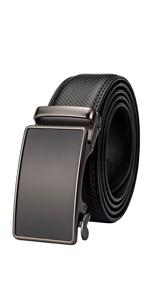 Ratchet Belt for Men Genuine Leather Classic Dress Belt Automatic Sliding Buckle