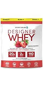 Designer Protein Stawberry, Designer Wellness