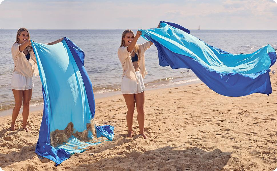sand falls off easily, sand wonamp;#39;t stick to the blanket sandfree sand proof