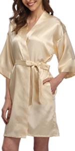 womens satin robe