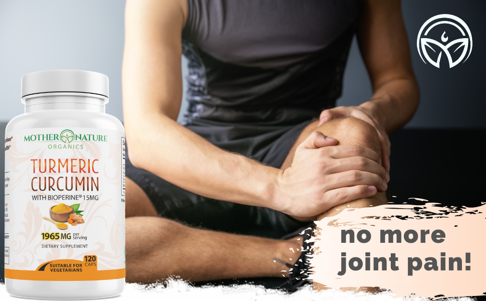 turmeric curcumin capsules for joints joint support pain relief bioperine ginger extract curcumina
