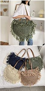 straw beach bag with tassles