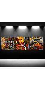 Wine Canvas Wall Art Triptych Still Life Canvas Painting Framed for Kitchen Room Decoration