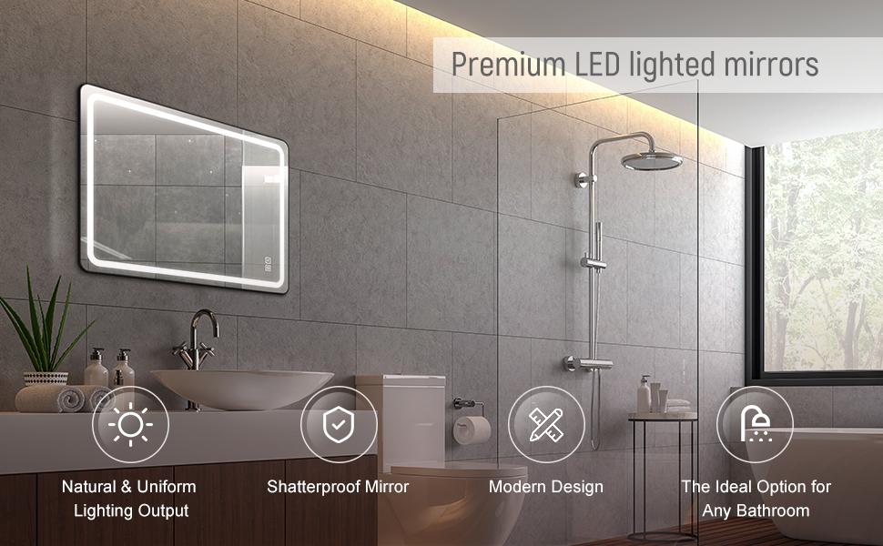 Premium LED lighted mirrors