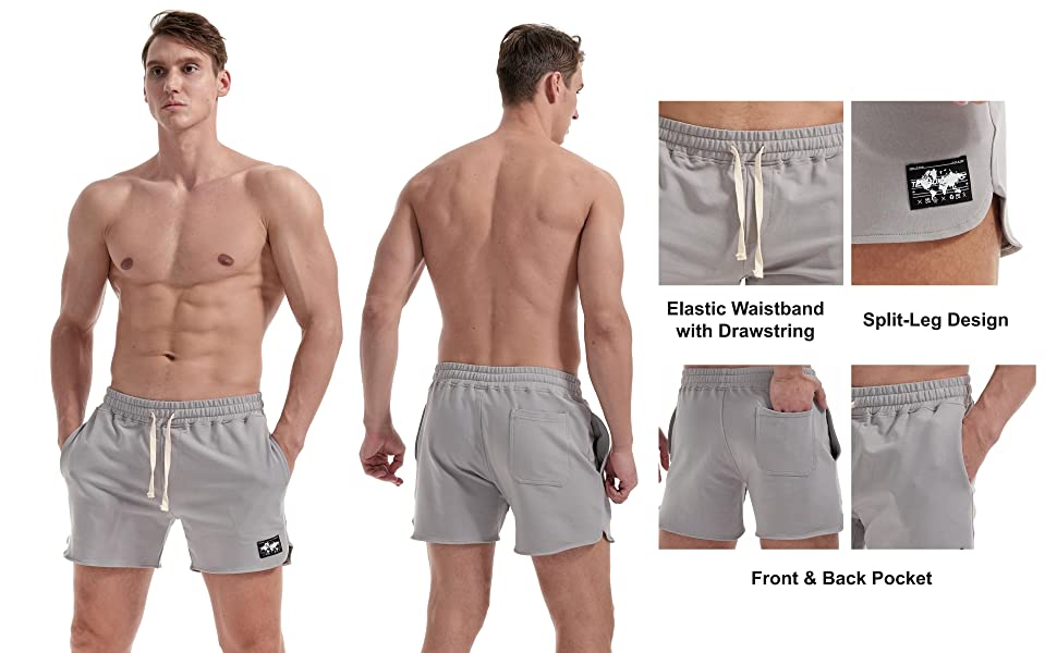 Mens Workout Sweat Shorts