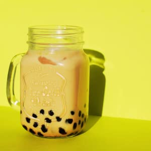 Boba Milk Tea -Yellow background