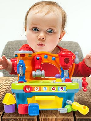 18 meses Juguetes de bebe de un año juguete de aprendizaje musical juguete de banco de trabajo