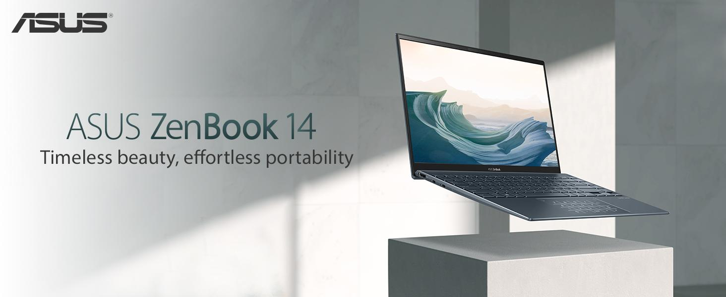 "Amazon.com: ASUS ZenBook 14 Ultra-Slim Laptop 14"" FHD NanoEdge Bezel Display, Intel Core i7-1165G7, NVIDIA MX450, 16GB RAM, 512GB SSD, ScreenPad 2.0, Thunderbolt 4, Windows 10 Pro, Pine Grey, UX435EG-XH74 : Everything Else"