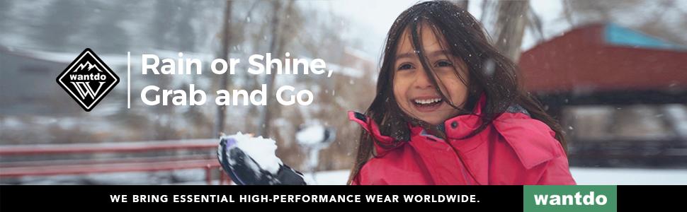 Wantdo Waterproof and Windproof Ski Jacket For Boys