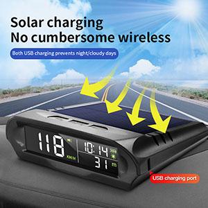 Solar HUD GPS speedometer