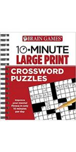 brain games 10 minute crossword puzzles large print