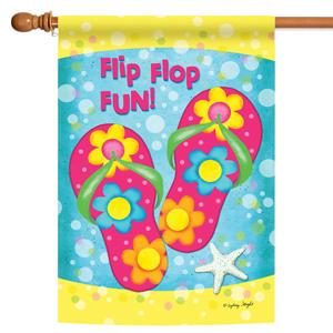 House flag with summer flip flop design