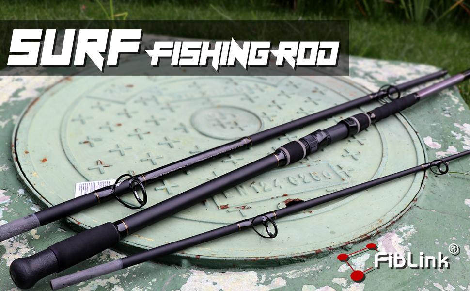 Surf Fishing Rod 2 Piece/3 Piece Portable Travel Spinning Rod Saltwater Surf Rod