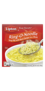 Lipton Soup Secrets Instant Soup Mix For a Warm Bowl of Soup Ring-O-Noodle Cooks in 5 Minutes