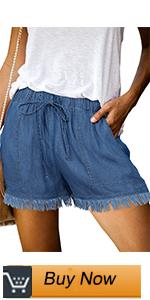 women's wide leg denim shorts
