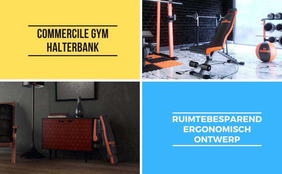 Halterbank multifunctionee verstelbare fitnessbank kan als schuine lakke en negatieve bank worden