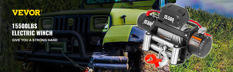 15,500 LBS Electric Truck Winch
