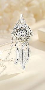 Dream catcher urn necklace