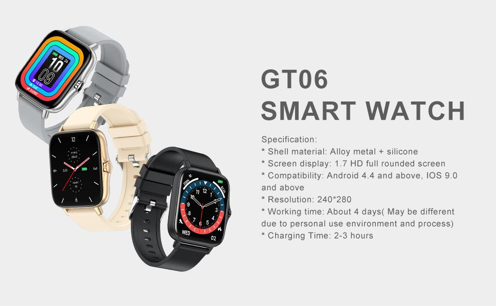 Smart Watch for Android and iOS Phone with Call Function