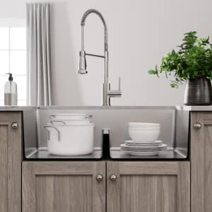 easy to clean, tight corners, more usable space, deep sink, aqua divide