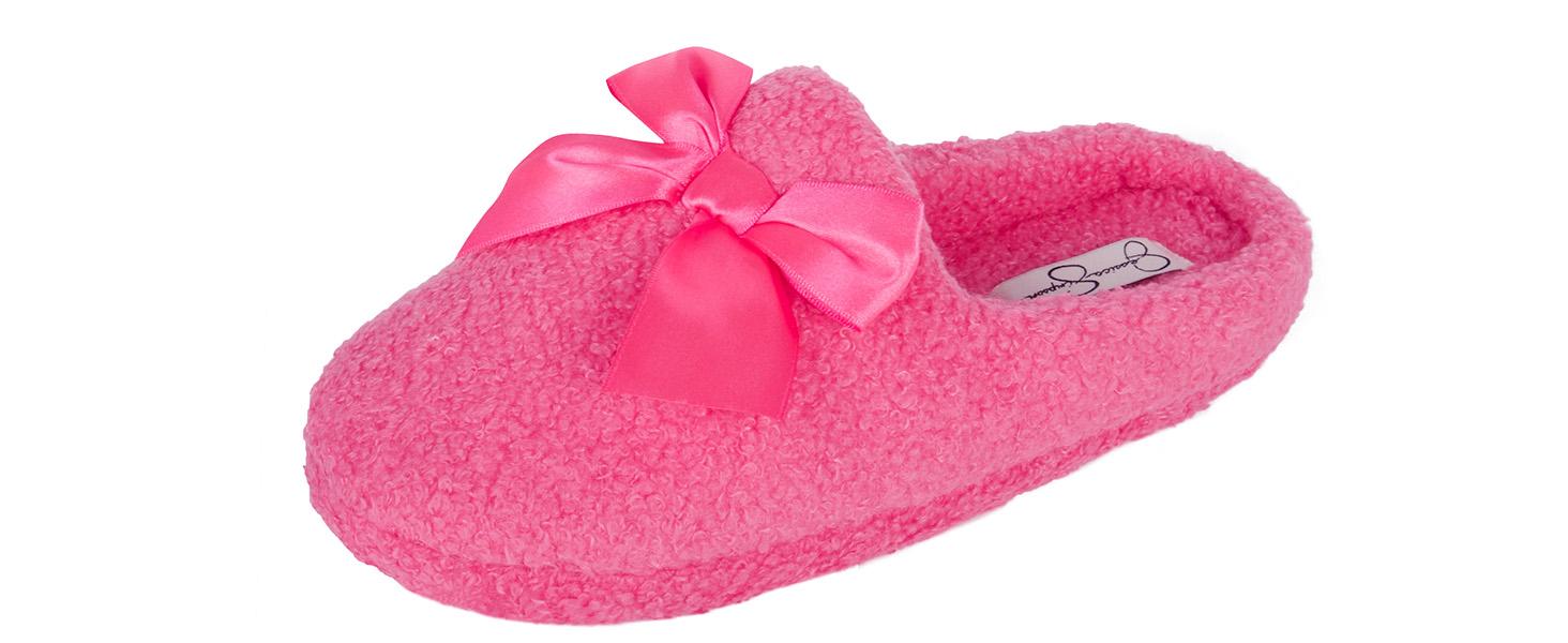jessica simpson girls ribbon bow clog slipper